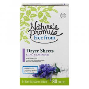 Nature's Promise Dryer Sheets Lavender