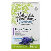 Nature's Promise Dryer Sheets Lavender