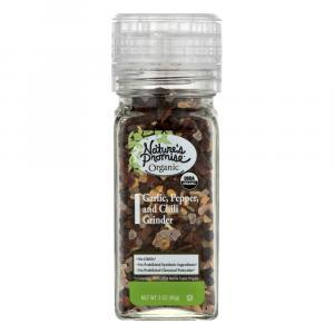 Nature's Promise Organic Garlic Pepper Chili Grinder