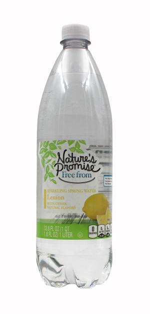 Nature's Promise Sparkling Spring Water Lemon
