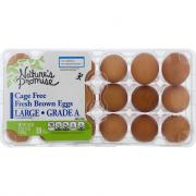 "Nature's Promise Cage Free Large Brown ""Grade A"" Eggs"