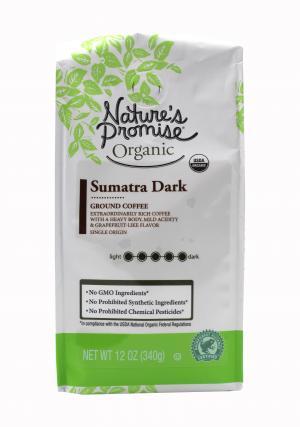 Nature's Promise Fair Trade Sumatra Dark Ground Coffee