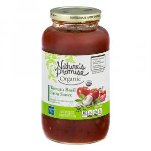 Nature's Promise Organic Tomato Basil Pasta Sauce