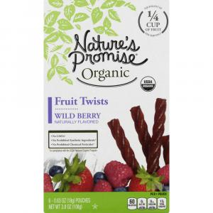 Nature's Promise Organic Wild Berry Fruit Twists