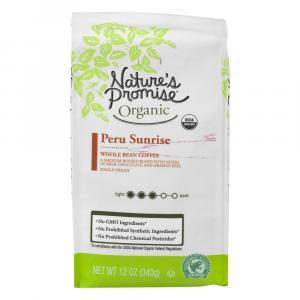 Nature's Promise Organic Peru Sunrise Whole Bean Coffee