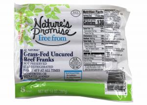 Nature's Promise Grass Fed Uncured Beef Frank