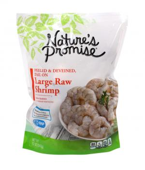 Nature's Promise 21/25 Tail On Raw Peeled n Deveined Shrimp