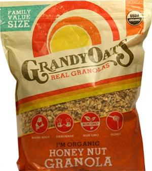 Grandy Oats Organic Honey Nut Granola Family Value Pack