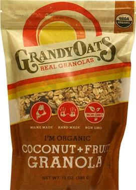 Grandy Oats Coconut Granola With Fruit