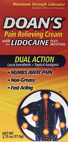 Doan's Lidocaine Plus Menthol Pain Relieving Cream