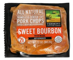 Vermont Country Farms Sweet Bourbon Marinade Pork Chops
