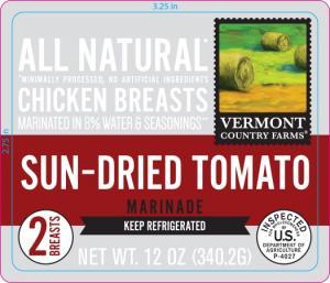 Vermont Country Farms Sun-dried Tomato Marinade Chicken