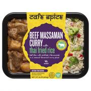 Cafe Spice Beef Massaman Curry with Thai Fried Rice