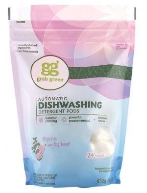 Grab Green Thyme with Fig Leaf Dishwashing Detergent Pods