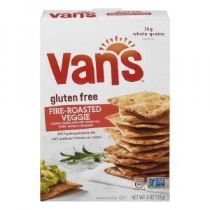 Van's Gluten Free Fire-roasted Veggie Whole Grain Crackers