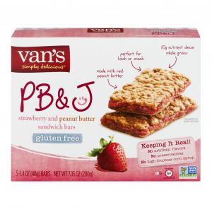 Van's Gluten Free PB&J Bars Strawberry