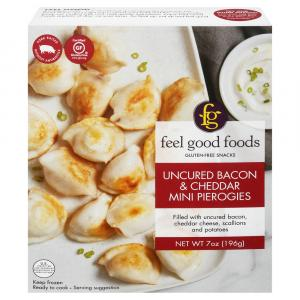 Feel Good Foods Uncured Bacon & Cheddar Mini Pierogies