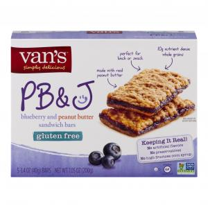 Van's Gluten Free PB&J Bars Blueberry