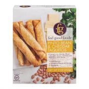 Feel Good Foods Pinto Bean & Cheddar Taquitos
