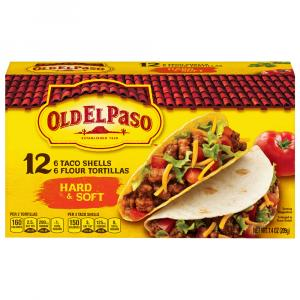 Old El Paso Hard & Soft Taco Shells with 6 Flour Tortillas