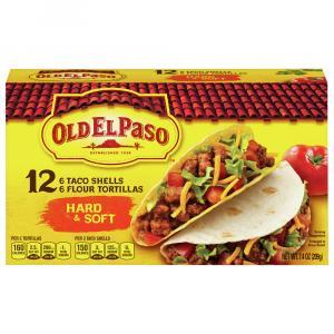 Old El Paso Hard & Soft Taco Shells with 6 Flour Tortillas