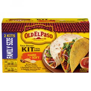 Old El Paso Hard & Soft Taco Dinner Kit Twin Pack