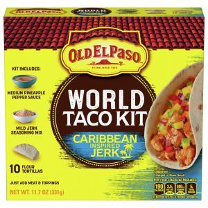 Old El Paso World Taco Kit Caribbean Inspired Jerk