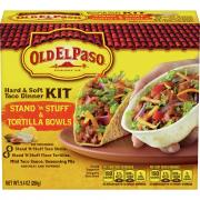 Old El Paso Hard & Soft Taco Dinner Kit with 4 Stand N Stuff