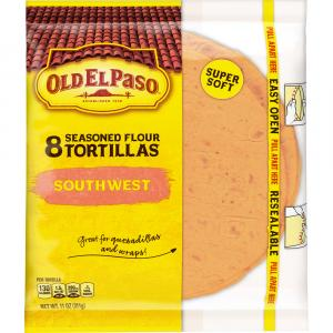 Old El Paso Seasonsed Flour Tortillas Southwest