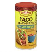 Old El Paso Taco Seasoning Mix 25% Less Sodium