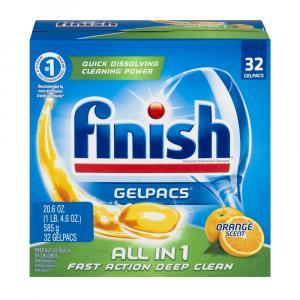 Finish Orange Gelpacs Dish Detergent