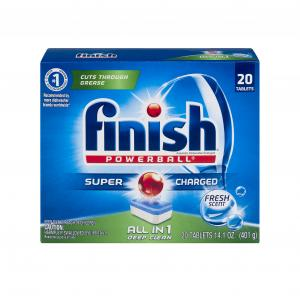 Finish Power Ball Fresh Scent Dishwasher Detergent Tabs