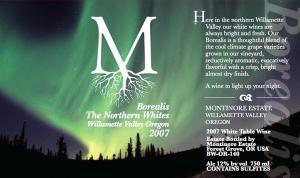 Montinore Borealis Northern White
