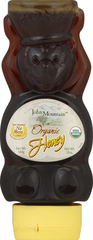 John Mountain Organic Honey Inverted Bear