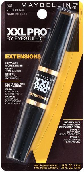 Maybelline XXL Pro Ext Mascara - Washable - Very Black
