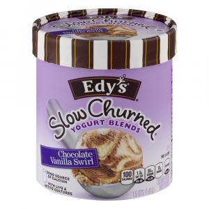 Edy's Yogurt Blends Chocolate Vanilla Swirl Ice Cream