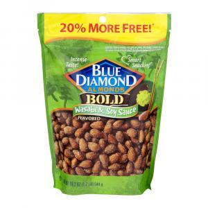 Blue Diamond Wasabi & Soy Sauce Almonds Bonus Bag