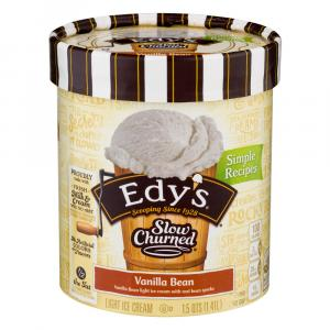 Edy's Slow Churned Vanilla Bean Ice Cream
