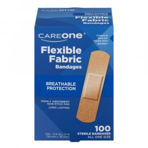 "CareOne Flexible Fabric Bandages 3/4""x3"""