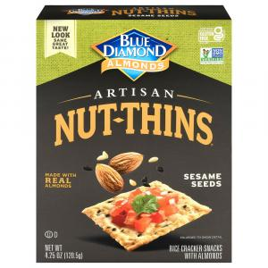Blue Diamond Almonds Artisan Sesame Seed Nut Thins