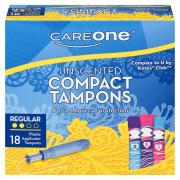 CareOne Unscented Compact Regular Tampons
