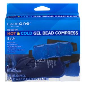 CareOne Reusable Back Hot & Cold Gel Bead Compress Pack