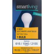 Smart Living 50/100/150w Soft White 3-Way Bulb
