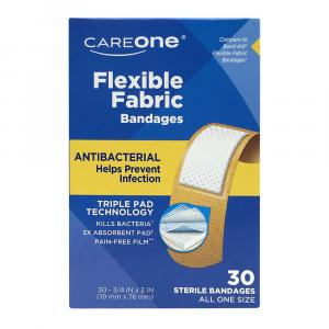 CareOne Antibacterial Flexible Fabric Bandages