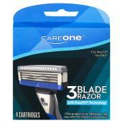 CareOne Men's 3-Blade Razor w/EasyFit Technology Cartridges