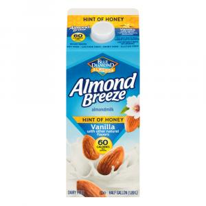 Blue Diamond Almond Breeze Hint of Honey Vanilla Milk