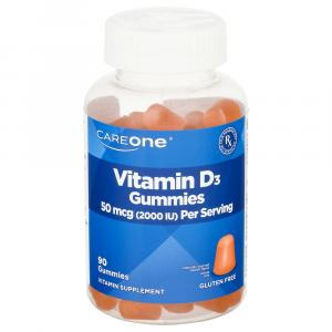 CareOne Vitamin D3 50 mcg 2000IU Gummies