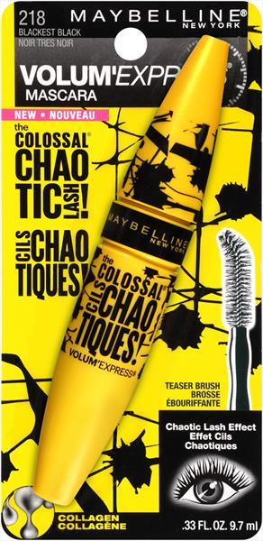 Maybelline Colossal Chaotic Lash Blackest Black Mascara