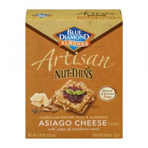 Blue Diamond Almonds Artisan Asiago Cheese Nut Thins