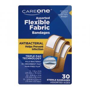 CareOne Assorted Antibacterial Flexible Bandages